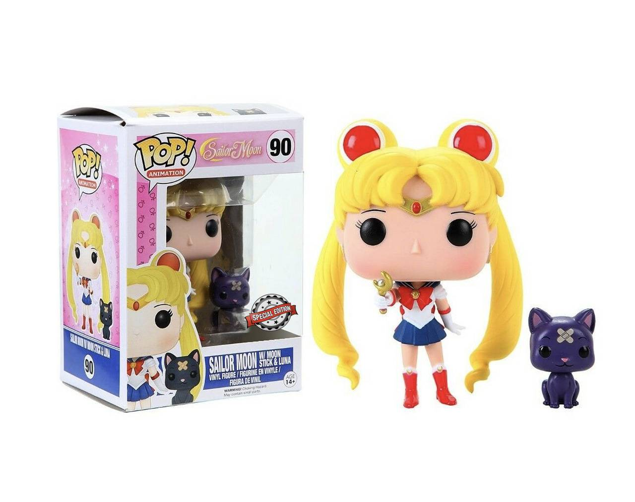 Sailor Moon with Moon Stick and Luna Pop! Vinyl