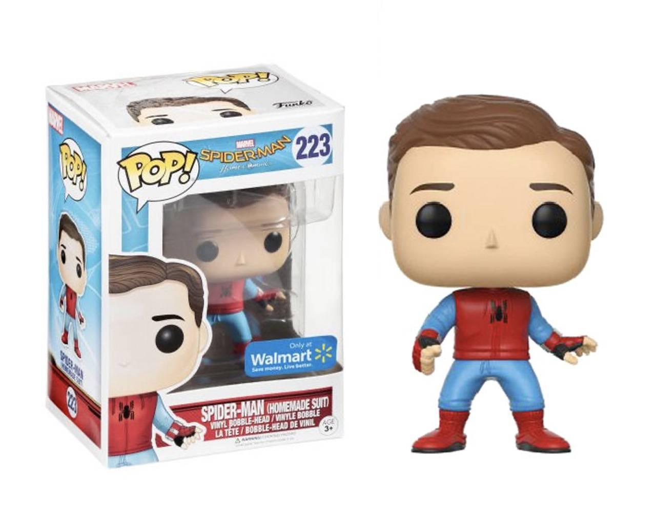 Spider-Man Homemade Suit (Unmasked) Pop! Vinyl
