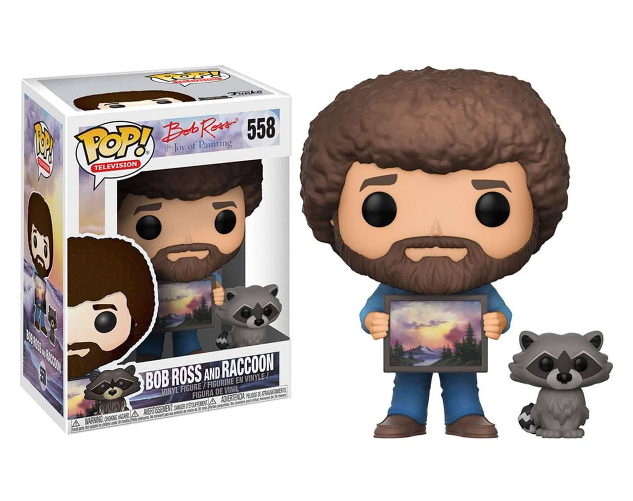 Bob Ross and Racoon Pop! Vinyl