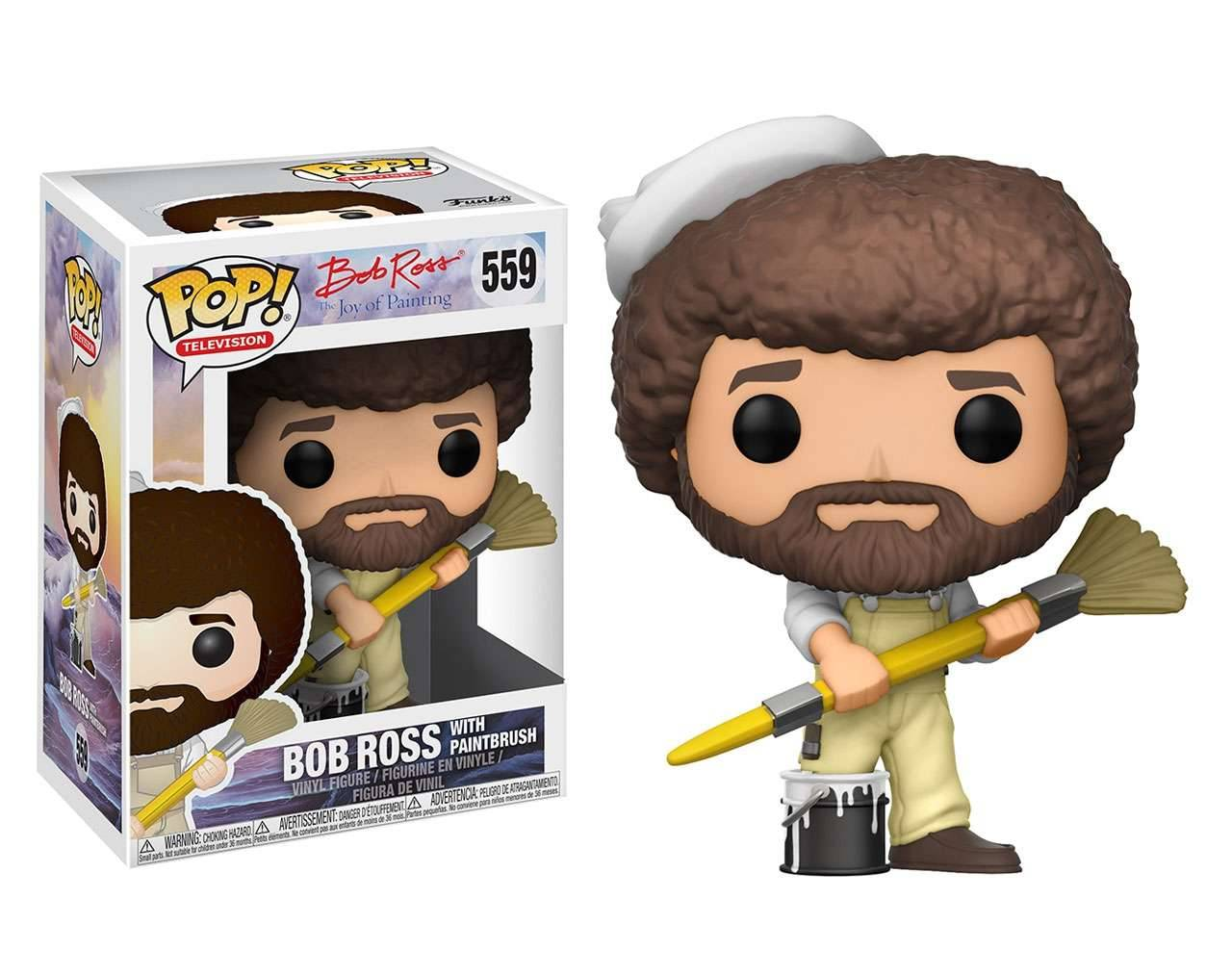 Bob Ross with Paintbrush Pop! Vinyl