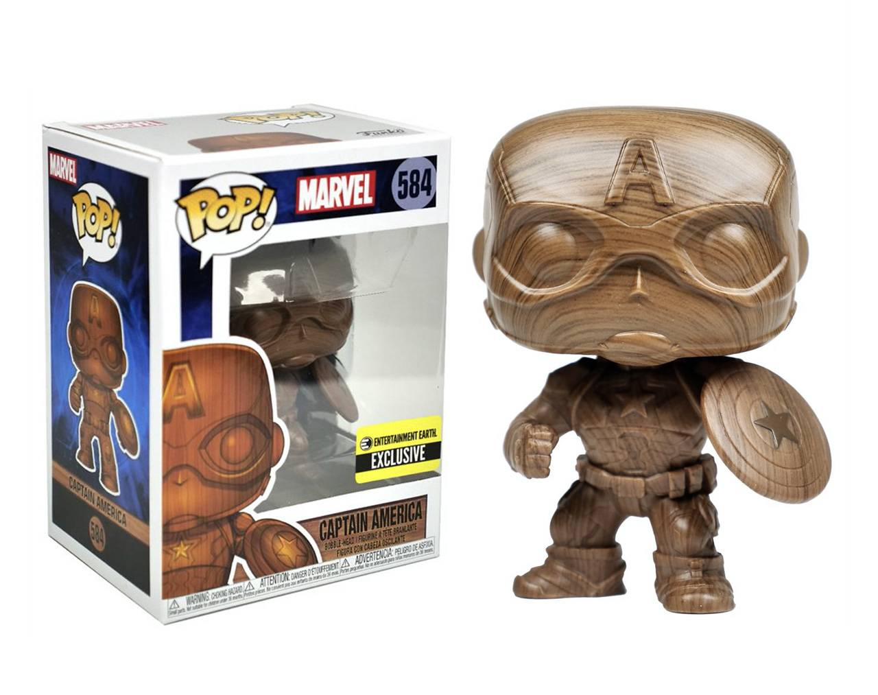 Captain America (Wood Deco) Pop! Vinyl