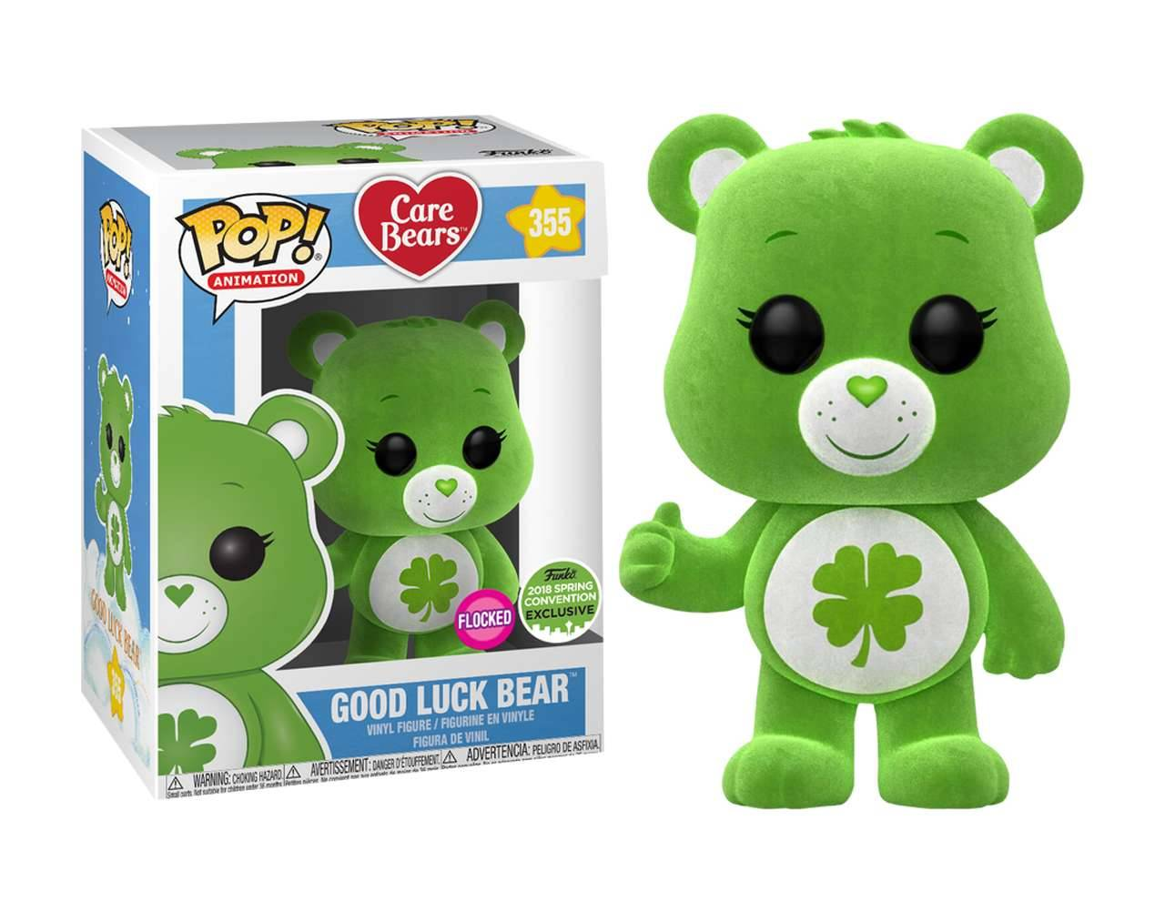 Good Luck Bear Flocked (ECCC 2018) Pop! Vinyl