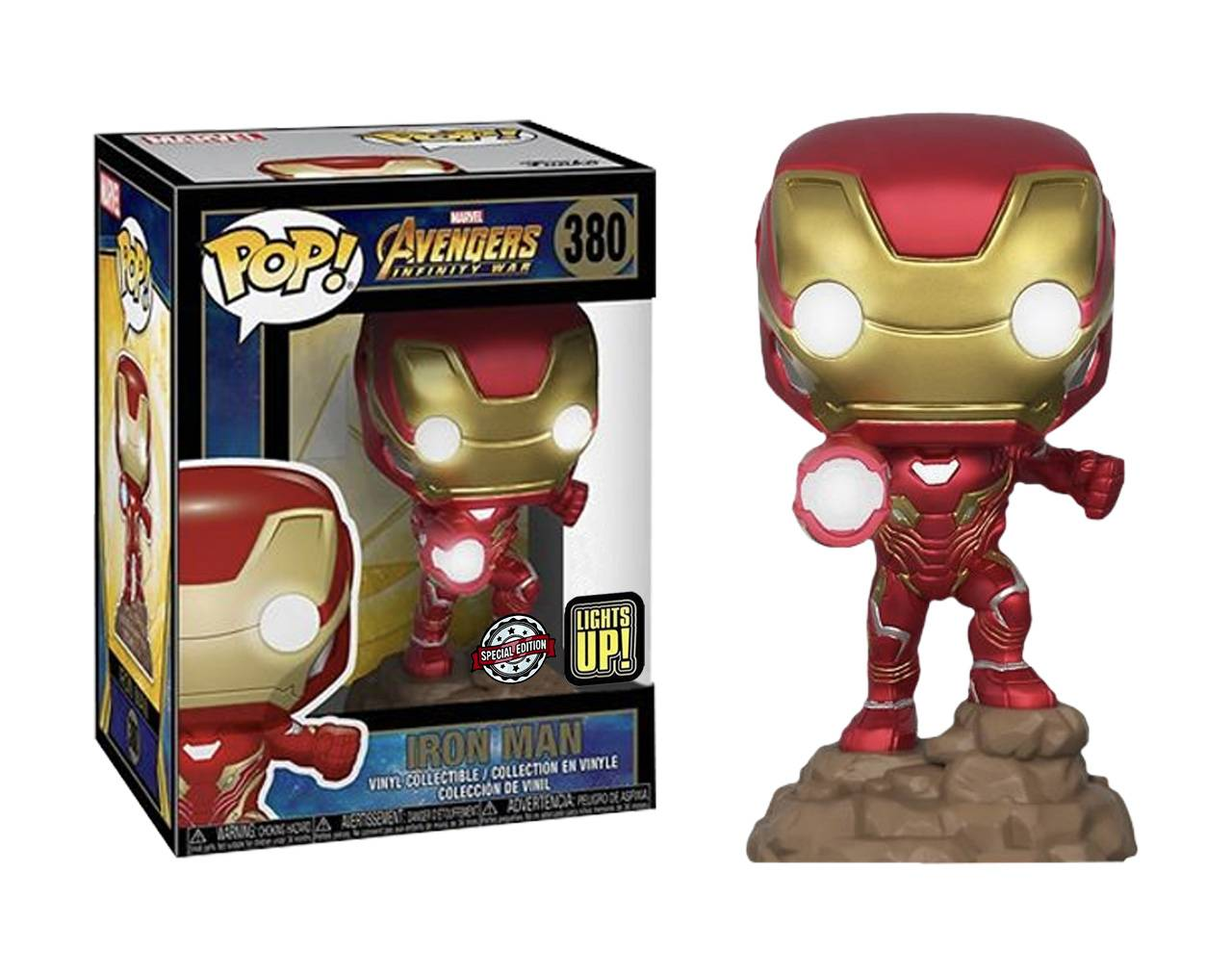 Iron Man (Lights Up) Pop! Vinyl