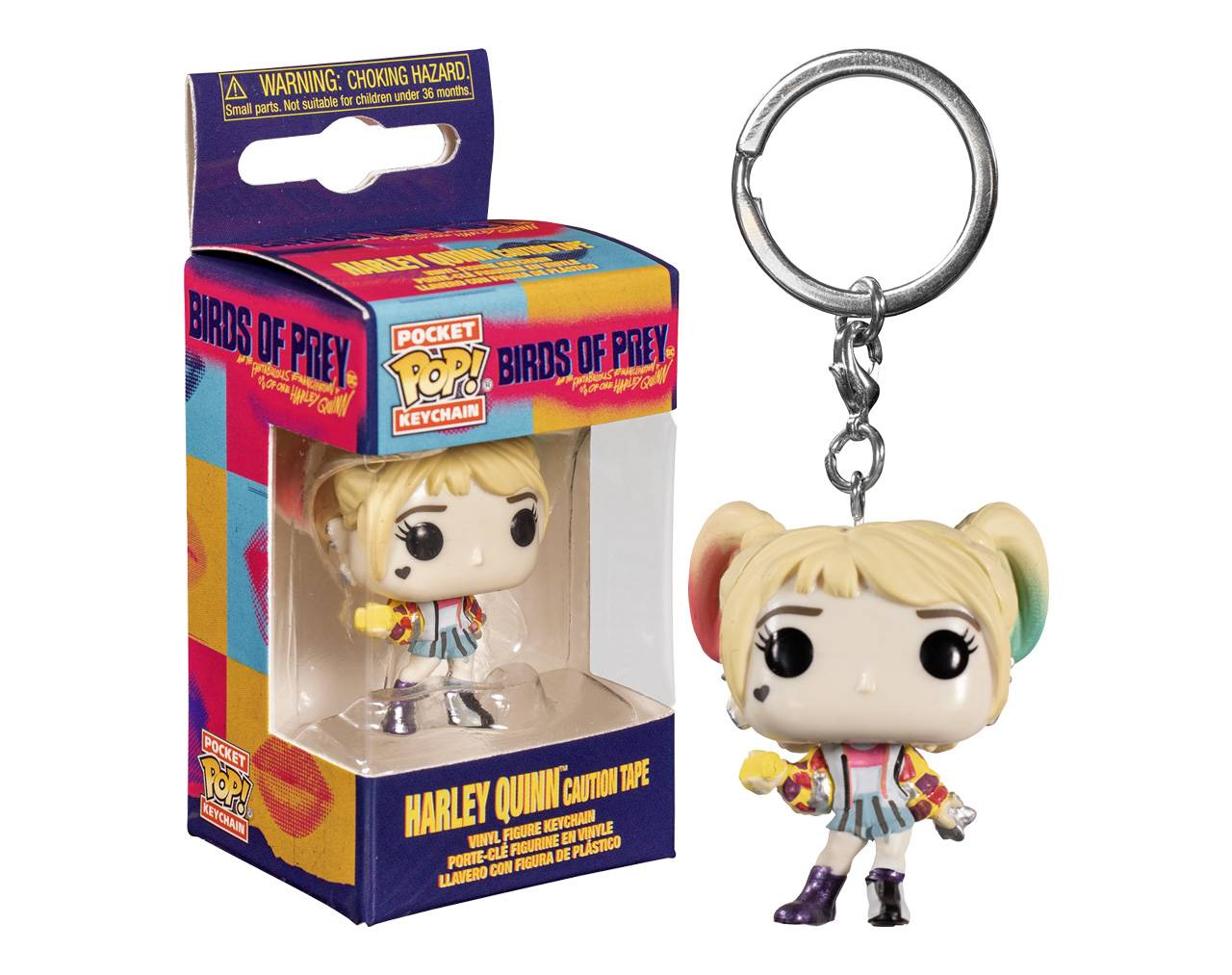 Harley Quinn with Caution Tape (Llavero) Pop! Vinyl