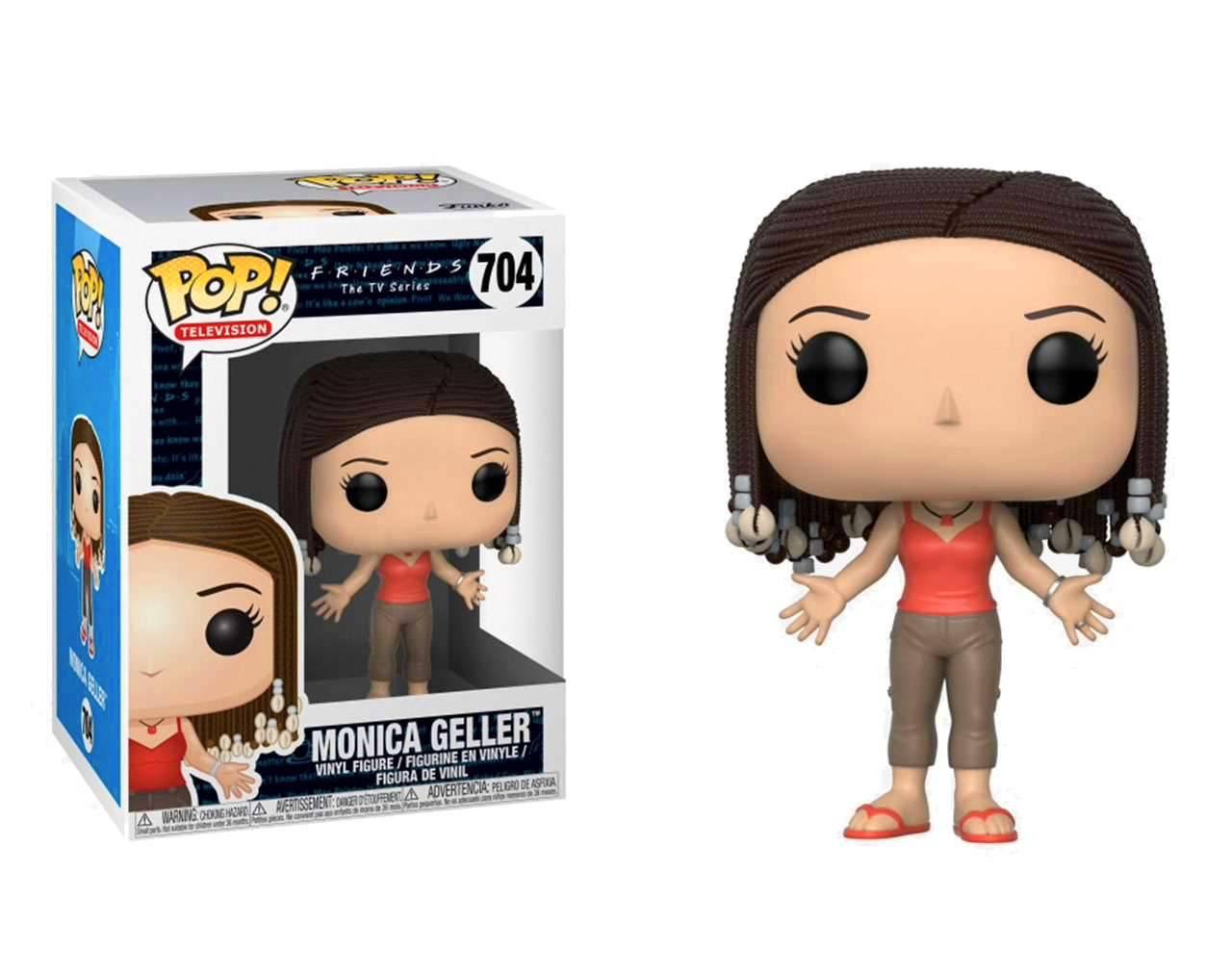Monica Geller (Braids) Pop! Vinyl