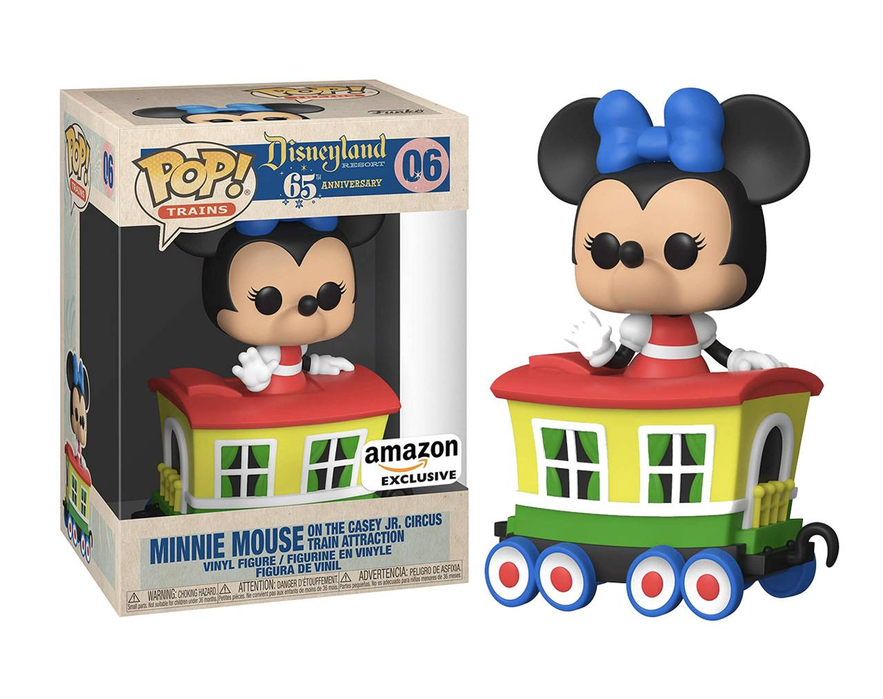Minnie Mouse on the Casey Jr. Circus Train Attraction Pop! Vinyl