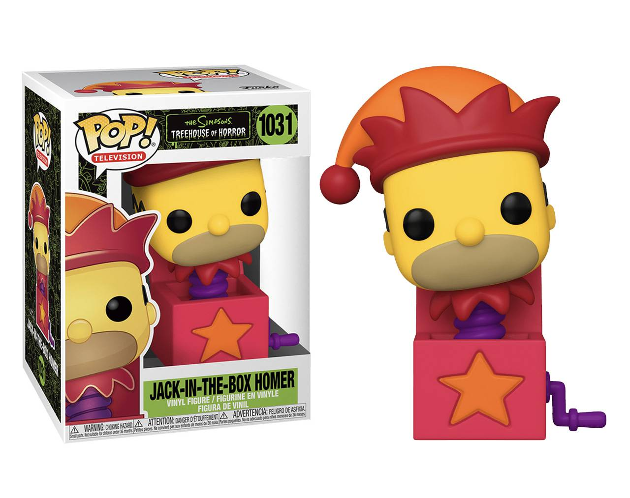 Jack in the box Homer Pop! Vinyl