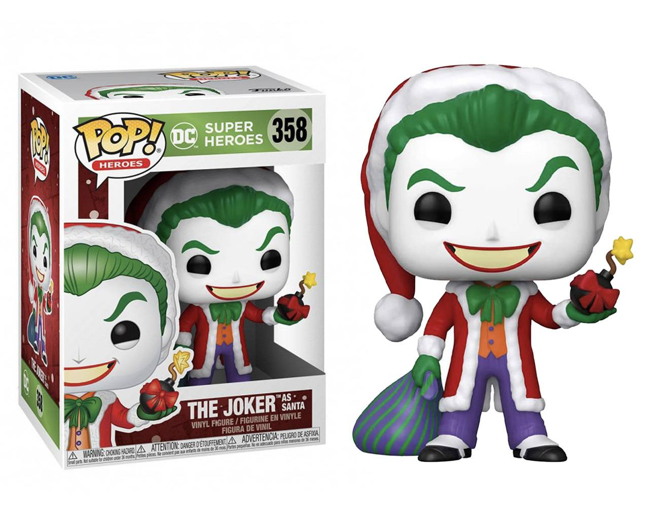 The Joker as Santa Pop! Vinyl