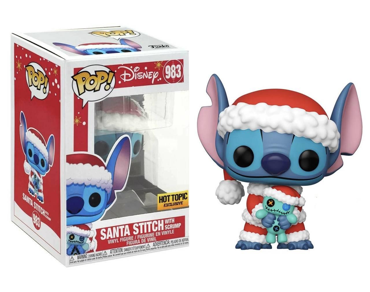 Santa Stitch with Scrump Pop! Vinyl