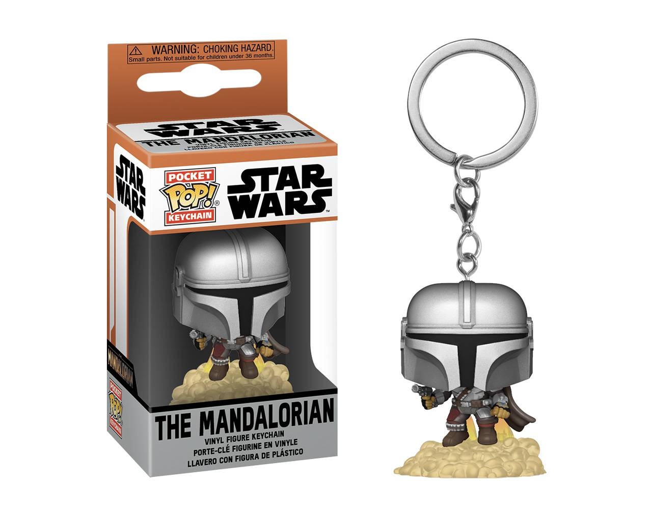 The Mandalorian with Blaster (Llavero) Pop! Vinyl