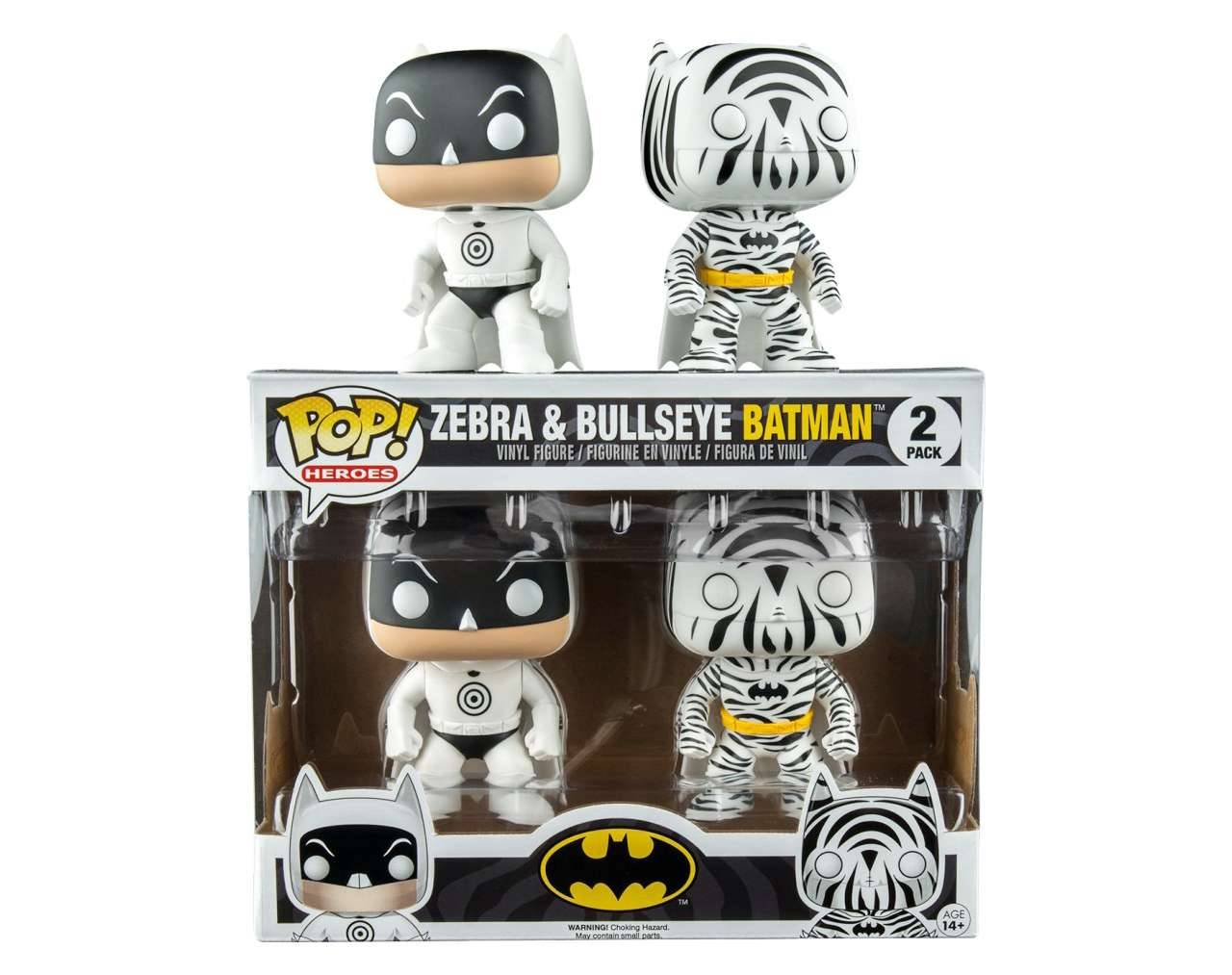 Zebra & Bullseye Batman (Double Pack) Pop! Vinyl