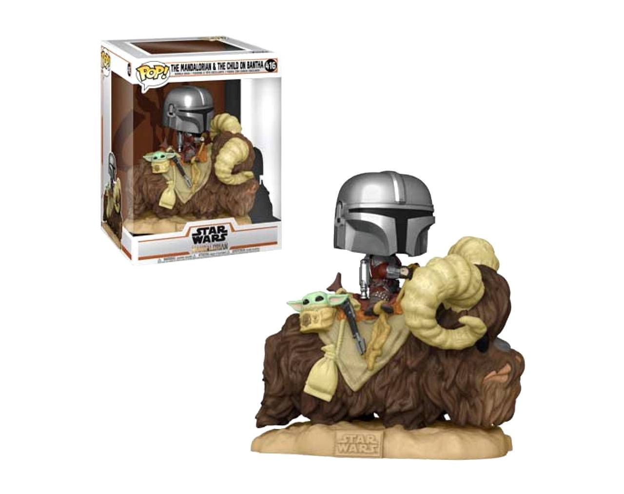 The Mandalorian & The Child on Bantha Pop! Vinyl