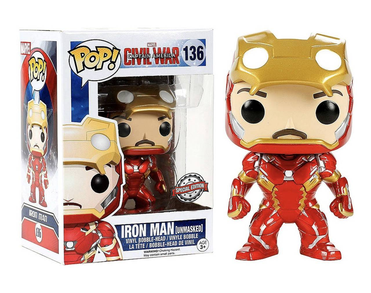 Iron Man (Unmasked) Pop! Vinyl