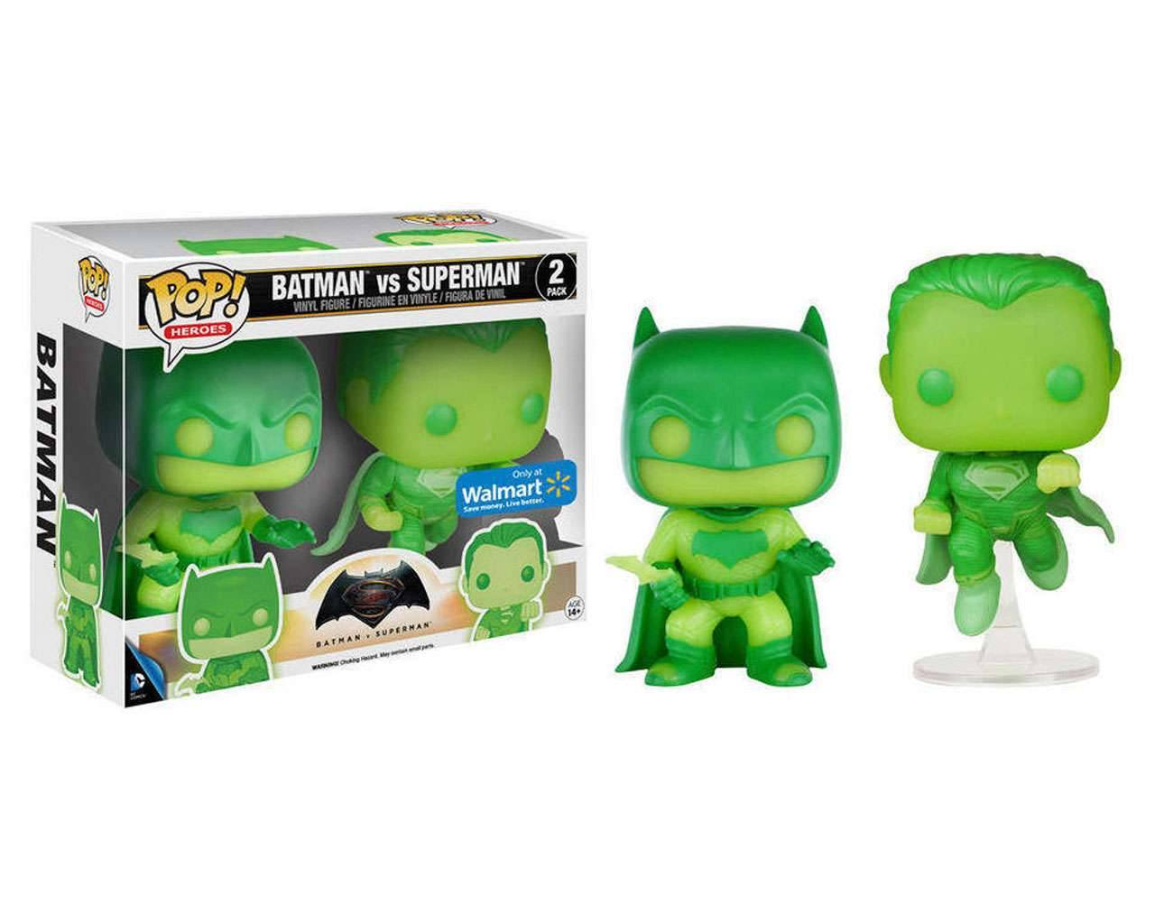 Batman vs Superman (Double Pack GITD) Pop! Vinyl
